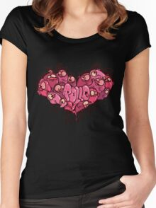 Chicken heart Women's Fitted Scoop T-Shirt
