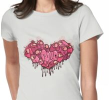 Chicken heart Womens Fitted T-Shirt