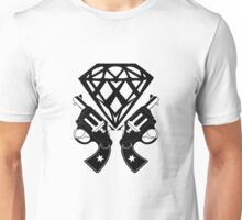 FUCKIN LIVING DIAMOND AND GUNS Unisex T-Shirt