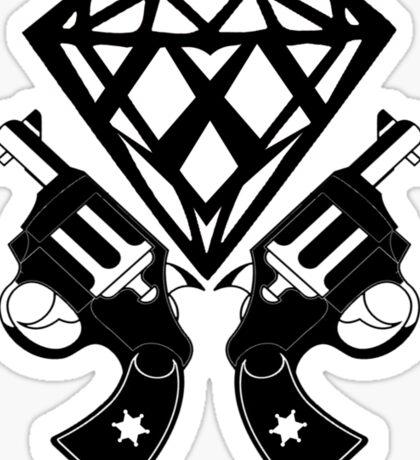 FUCKIN LIVING DIAMOND AND GUNS Sticker