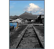 Warning Tracks Photographic Print