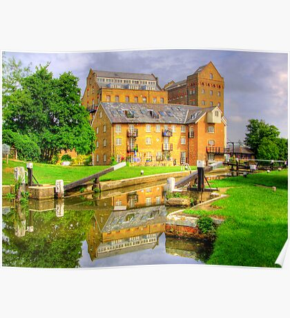 Coxes Lock and Mill HDR Poster