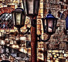 Vintage Lights Kalemegdan Fortress Belgrade by stockfineart