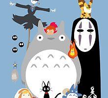 Studio Ghibli's World by zetsuennoadams