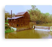 Pine Creek Grist Mill, Muskatine Iowa Metal Print