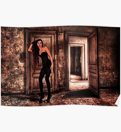 Abandoned Fashion Room Fine Art Print Poster