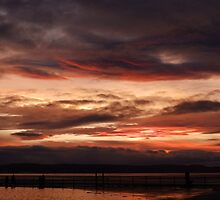 Red Sunset at West Kirby Beach- Wirral, Merseyside by kytephotography