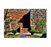 Fortress Kamelegdan Stairs Belgrade Art Print