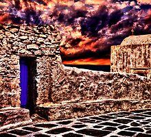Old Church Santorini Fine Art Print by stockfineart