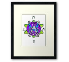 Fixie for life Framed Print