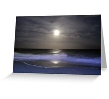 Misty Super Moon Greeting Card