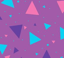Rad 90's Triangles (Purple) by ummo