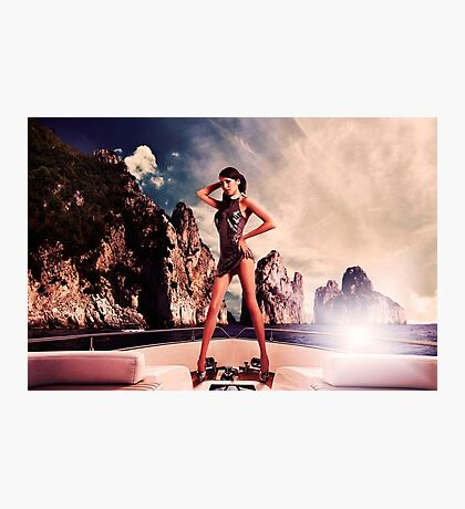 High Fashion Yacht Fine Art Print Photographic Print