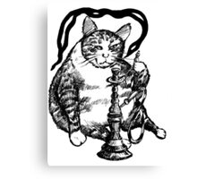 Real Cat love Hookah Canvas Print