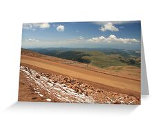 On the Pike's Peak Road Greeting Card