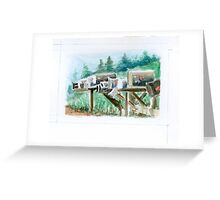 Country Mailboxes Greeting Card