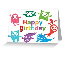 Critter Birthday - card Greeting Card