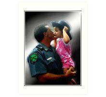 Police Angel Art Print