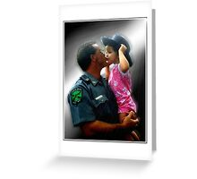 Police Angel Greeting Card