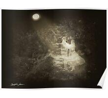 Linger in the Moonlight 1 Antiqued Poster