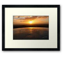 Sundial Sunrise Framed Print
