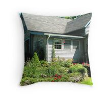 A Country Garden in Maine Throw Pillow