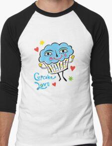 Cupcake Love Men's Baseball ¾ T-Shirt