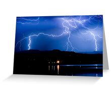 Lightning Blues Greeting Card