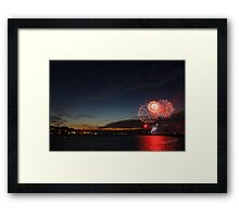 Cowes Week Fireworks Framed Print