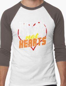 Break Dance Not Hearts Retro Vintage  Men's Baseball ¾ T-Shirt
