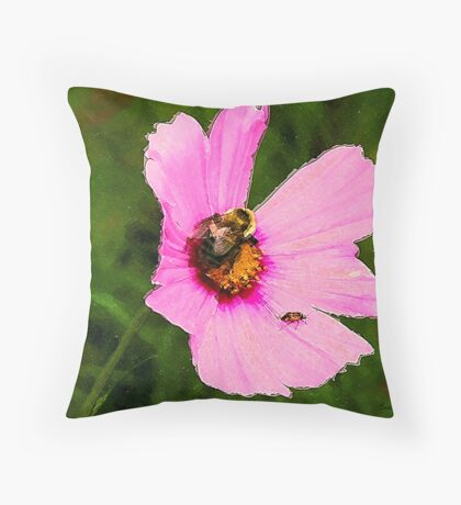 Bumble Bee / Summer / Throw Pillow