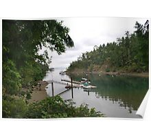 The Cove at Butchart Gardens Poster