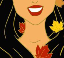 Fall Princess Sticker