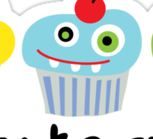 Cupcake Crazy  Sticker