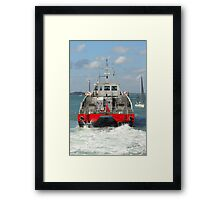 Red Jet 3 leaving Cowes Framed Print