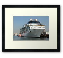 Celebrity Eclipse docked in Southampton Framed Print
