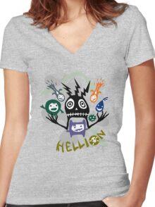 Hellion  Women's Fitted V-Neck T-Shirt