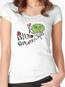 Psycho Cupcake  Women's Fitted Scoop T-Shirt