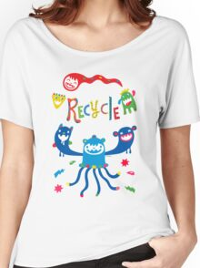 Recycle Monsters   Women's Relaxed Fit T-Shirt