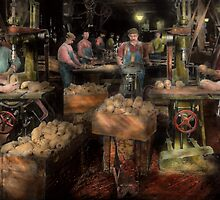 WoodWorking - Toy - The toy makers 1914 by Mike  Savad