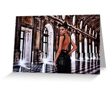 High Fashion Ballroom Fine Art Print Greeting Card