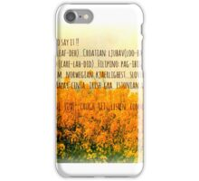 LOve in many languages iPhone Case/Skin