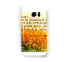 LOve in many languages Samsung Galaxy Case/Skin