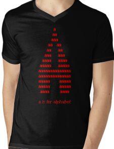 A is for alphabet Mens V-Neck T-Shirt