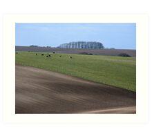 Winter Country Landscape Art Print