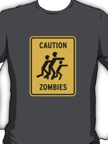 Zombie Warning T-Shirt