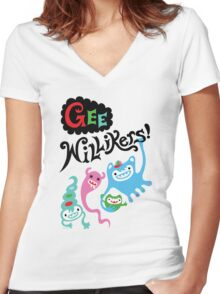Gee Willikers  Women's Fitted V-Neck T-Shirt
