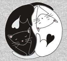 Yin Yang Cats One Piece - Short Sleeve