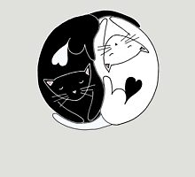 Yin Yang Cats Womens Fitted T-Shirt