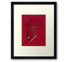 DEADBUNNEH - amor·ach·ne·pho·bi·a (on red) Framed Print